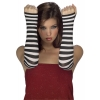 Stripes Fingerless Gloves